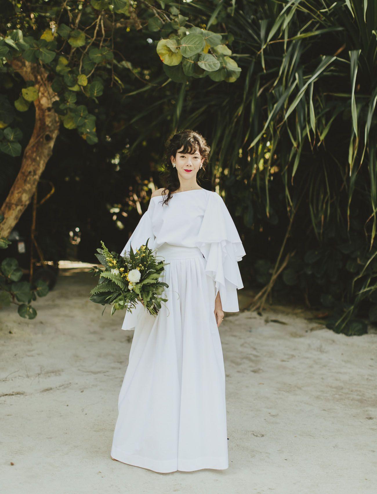 A modern miami beach wedding wedding dress weddings and wedding stuff