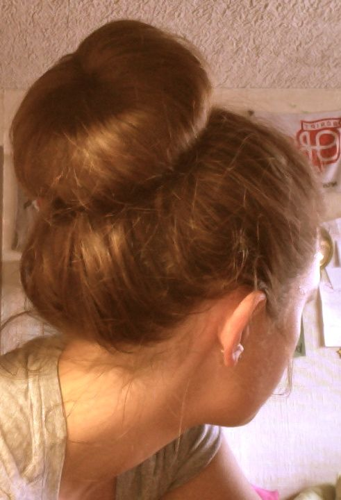 Sock bun love. and ohio state in the background <3