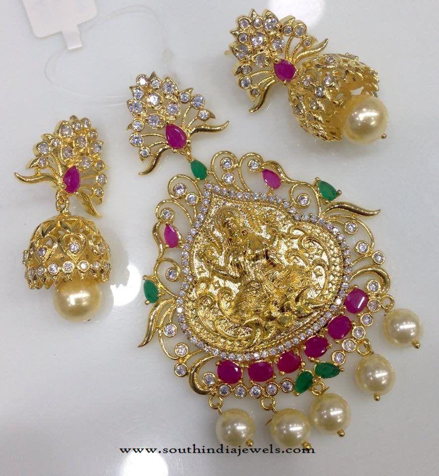 One gram gold ad lakshmi pendant one gram gold ad stone pendants one gram gold lakshmi pendants 1 gram gold aloadofball Image collections