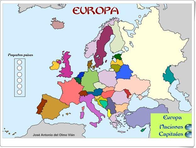 Juego de naciones y capitales de Europa  Secundaria Geografa