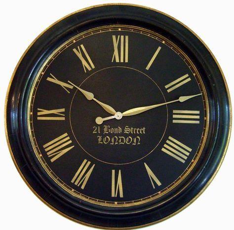 Perfekt 30 Inch Framed Large Wall Clock London Towne Black By Klocktime, $158.00  Wanduhren, Gerahmte