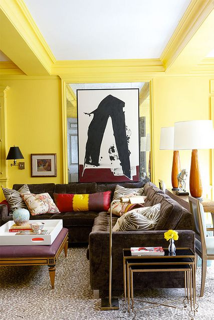 Crown molding inside beams decor inspiration interior designer nick olsen flickr also best the color yellow images home chairs rh pinterest