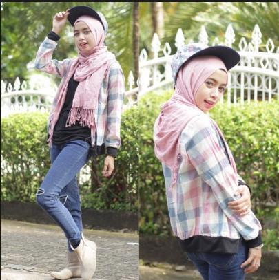 Tutorial Hijab Segi Empat Ala Ria Ricis Kerudung