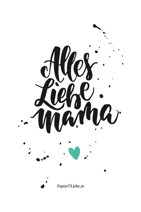 Freebie: Handlettering-Papeterie für Muttertag | Brush lettering and ...