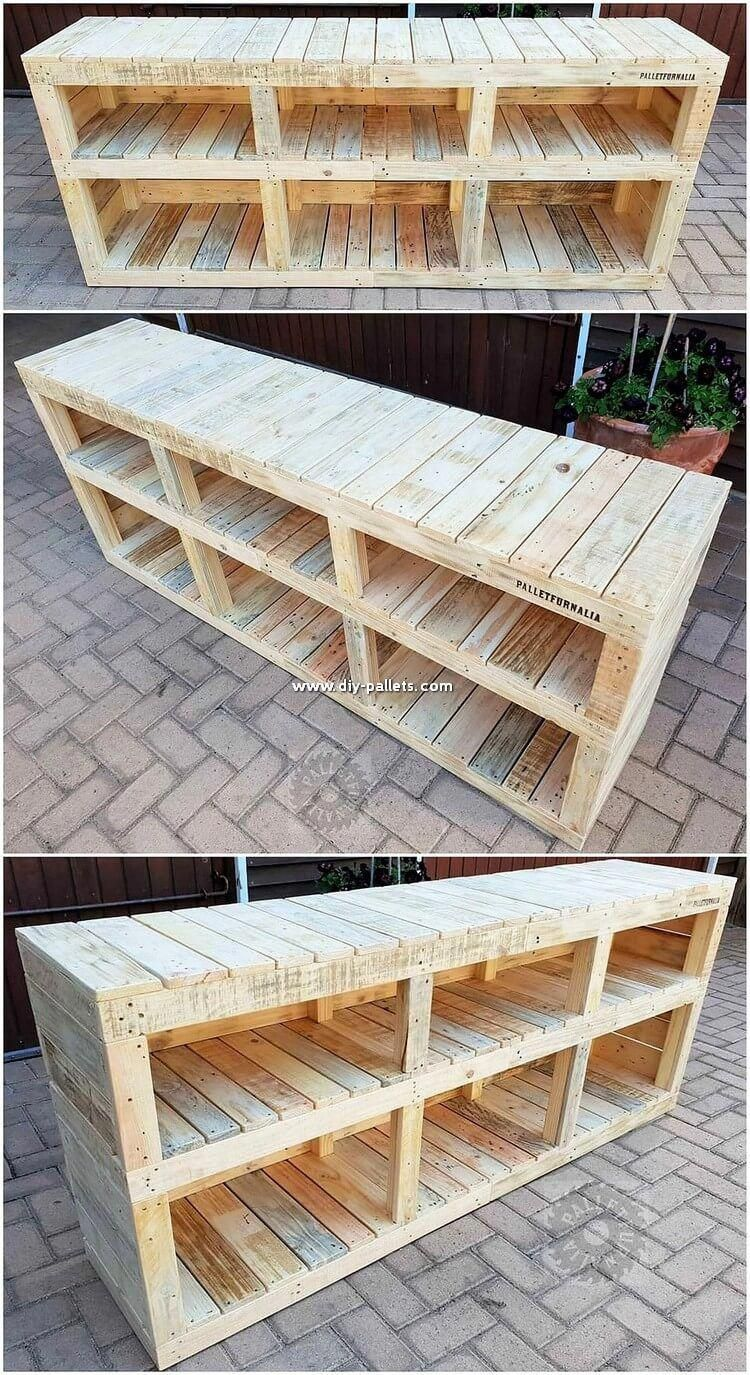 Shelving cabinet creation out of the wood pallet do always ...