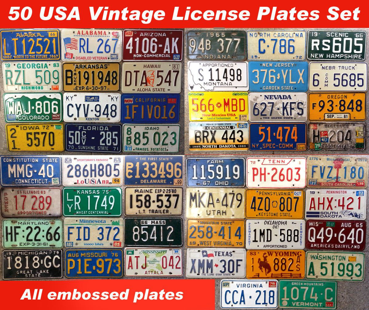 Fantastic Antique Number Plates Collection - Classic Cars Ideas .  sc 1 st  Boiq.info : antique number plates - pezcame.com