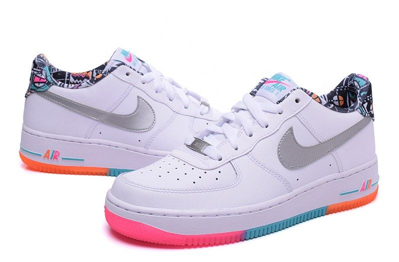 buy popular b9787 5b99f NIKE AIR FORCE 1 Rainbow Women Men