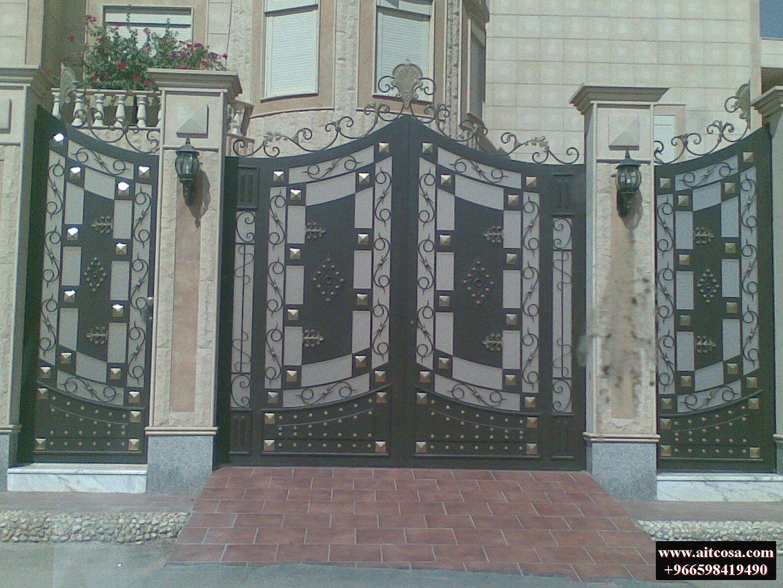 Pin By Aitco On ابواب خارجية Wrought Iron Gate Doors