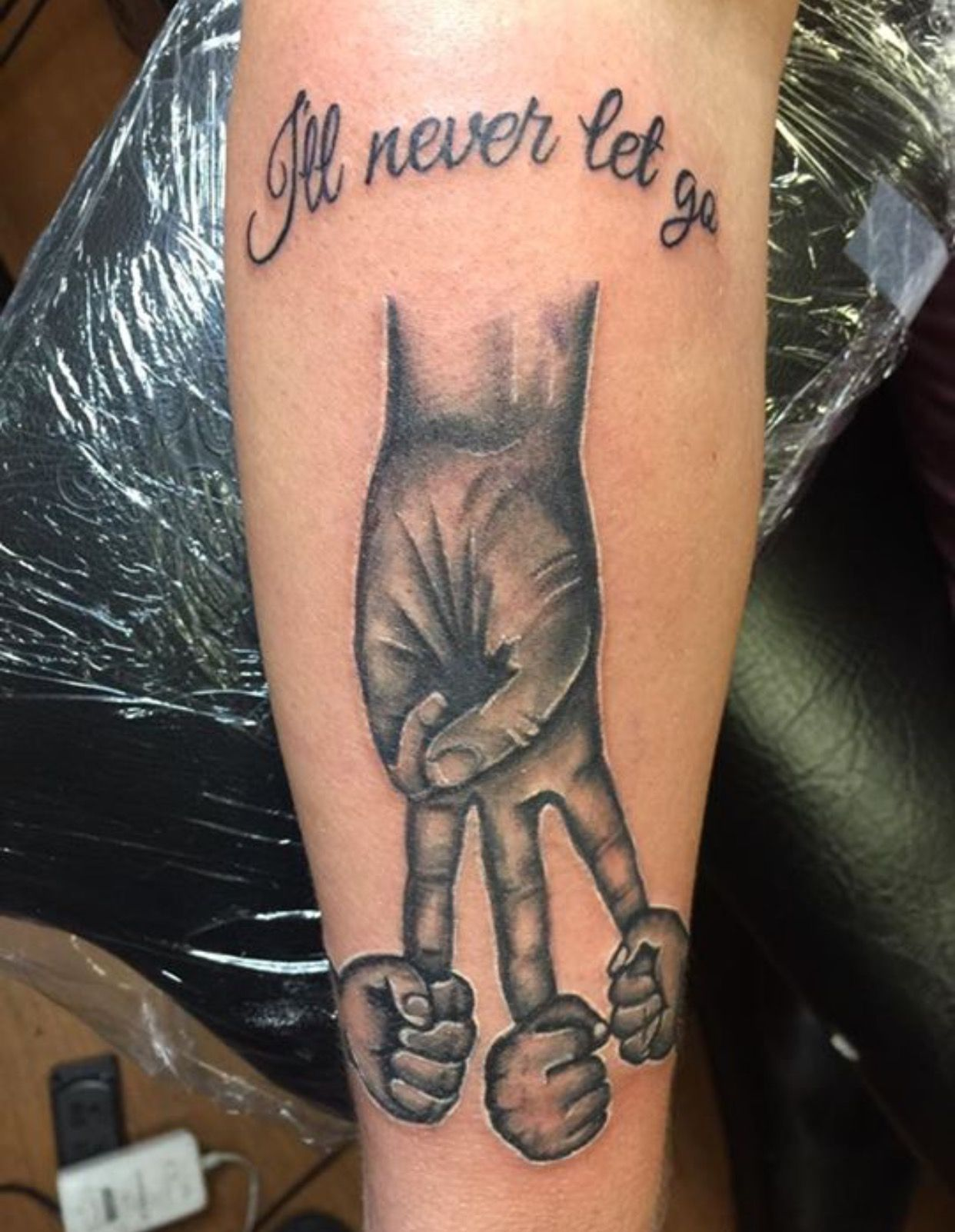 I'll Never Let Go This Ink Is Dedicated To Her Kids