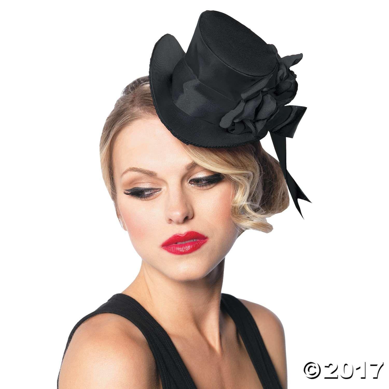 Black Top Hat Mini Mini Top Hat Top Hat Costume Red Satin Top