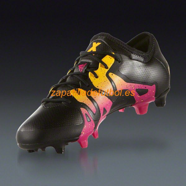 finest selection 8b3b1 14603 Botas De futbol Adidas X 15.1 FG AG Negro Rosa Choque Solar Oro