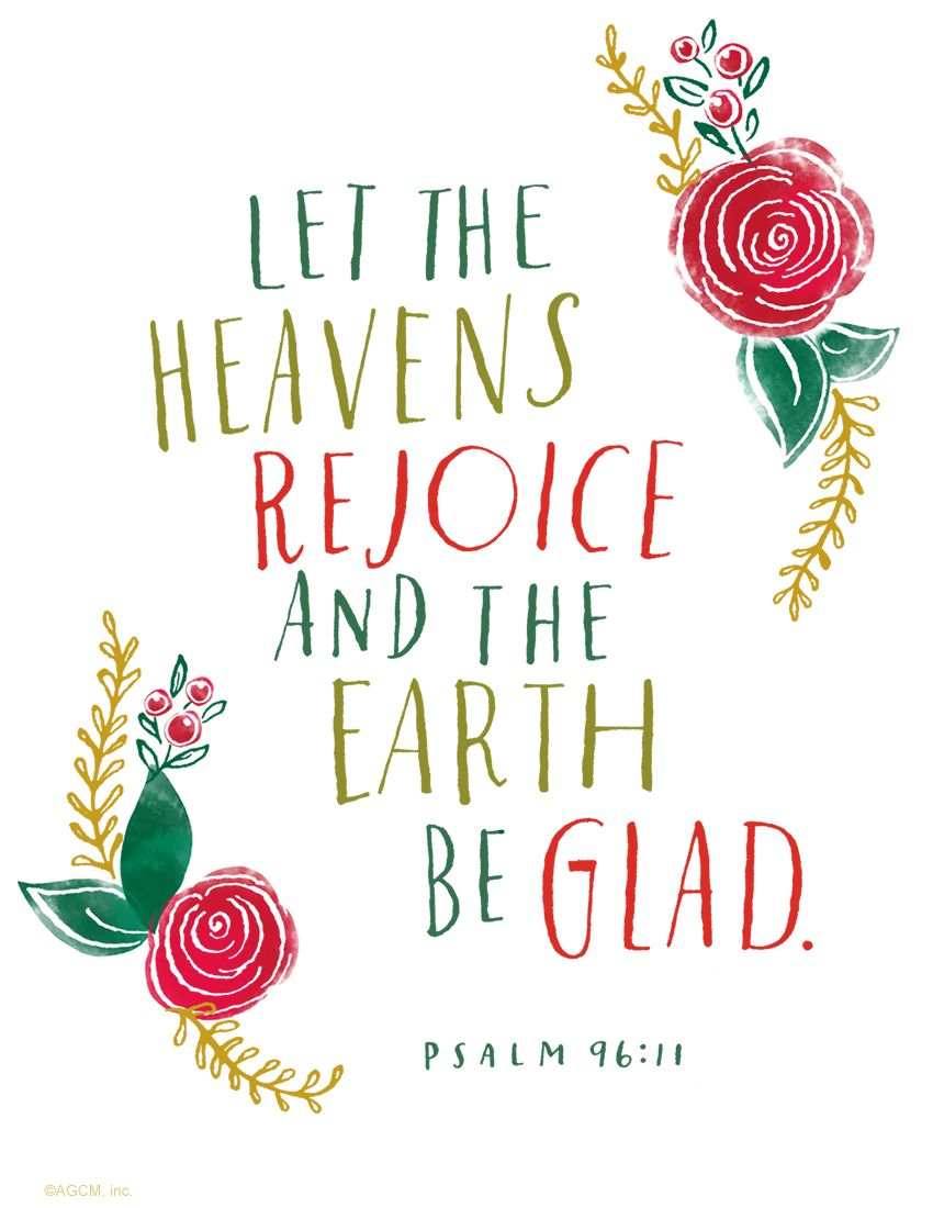 Christmas Bible Quotes.Printable Bible Quote Let The Heavens Rejoice And The