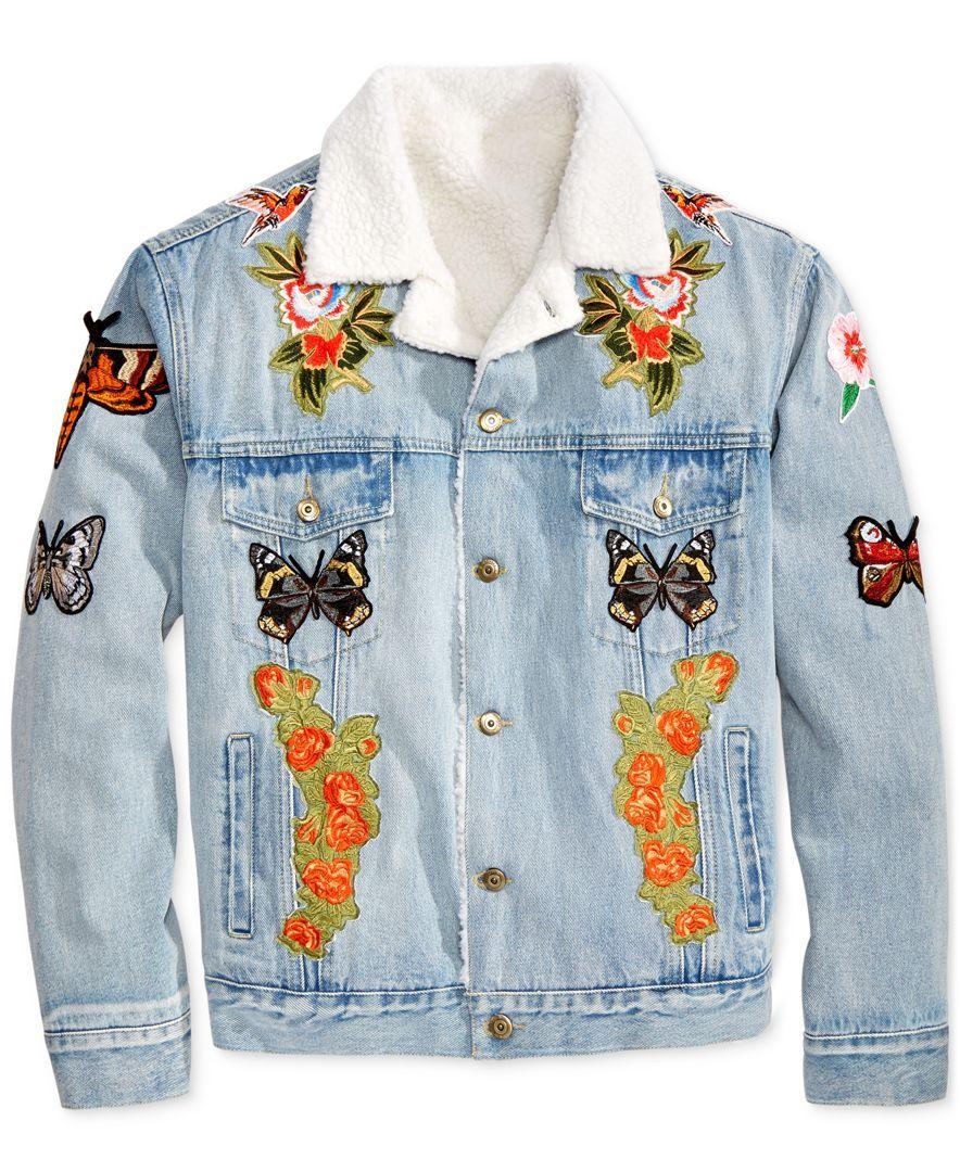 d9a8863e7f99d Hudson Nyc Men s Patched Denim Jacket