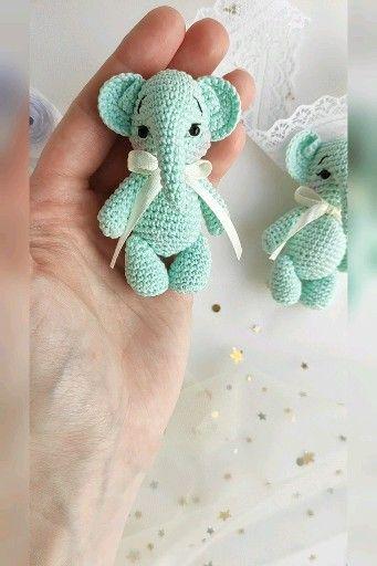 Photo of Elephant toy crochet pattern, little elephant pattern, amigurumi animal toy PDF tutorial in eng