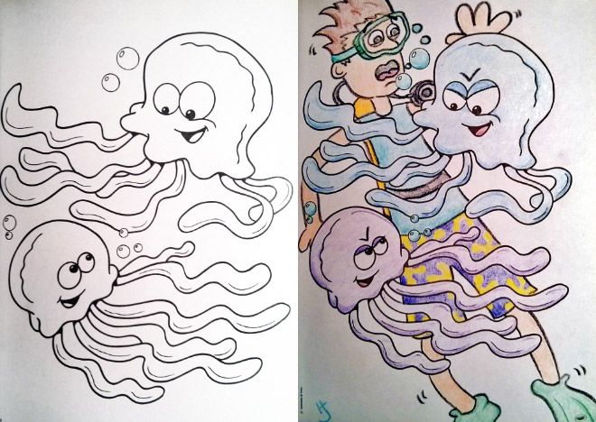 Coloring Book Corruptions Innocent Children S Coloring Book Pages Defaced And Turned Into Somethi Childrens Colouring Book Corrupt Coloring Book Coloring Books