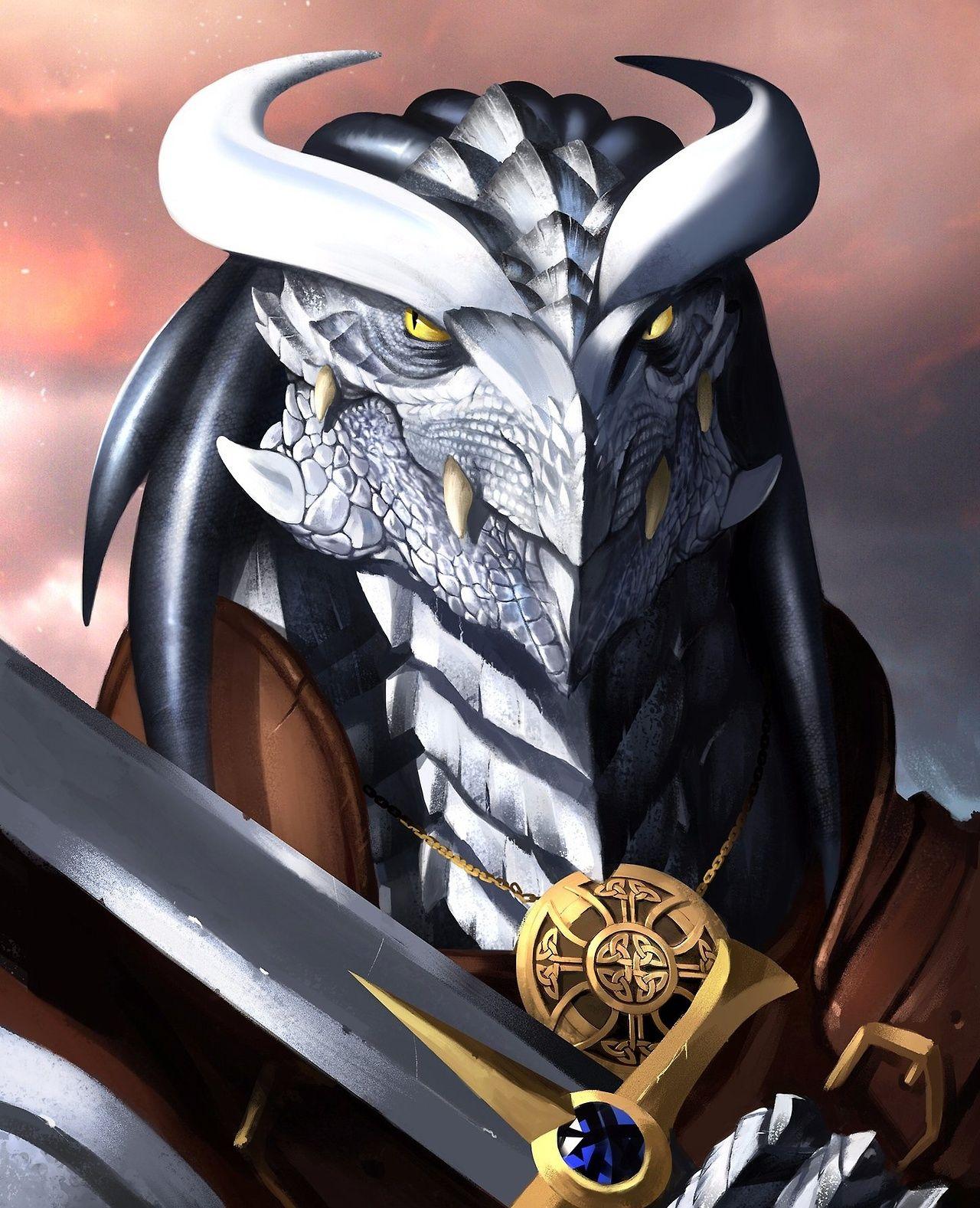 Dnd White Dragon: M White Dragonborn Fighter Cleric Paladin