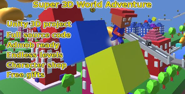 Super 3d World Adventure, Unity game source code | Codecanyon