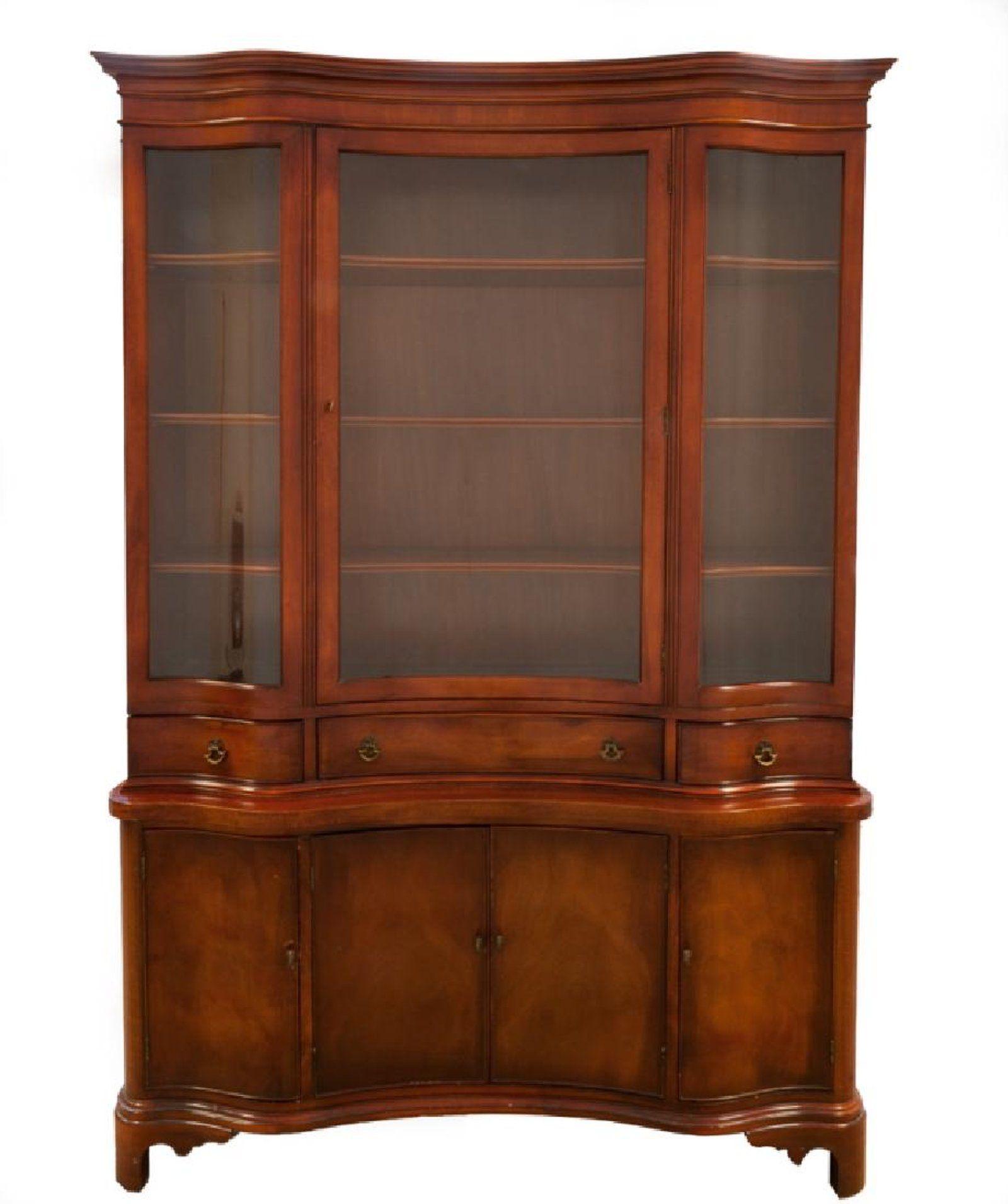Morganton Furniture Serpentine Front China Cabinet