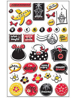 MAGICAL LAUGHS 3-D Epoxy Sticker Sheet VACATION scrapbooking CLOSE-OUT SALE!