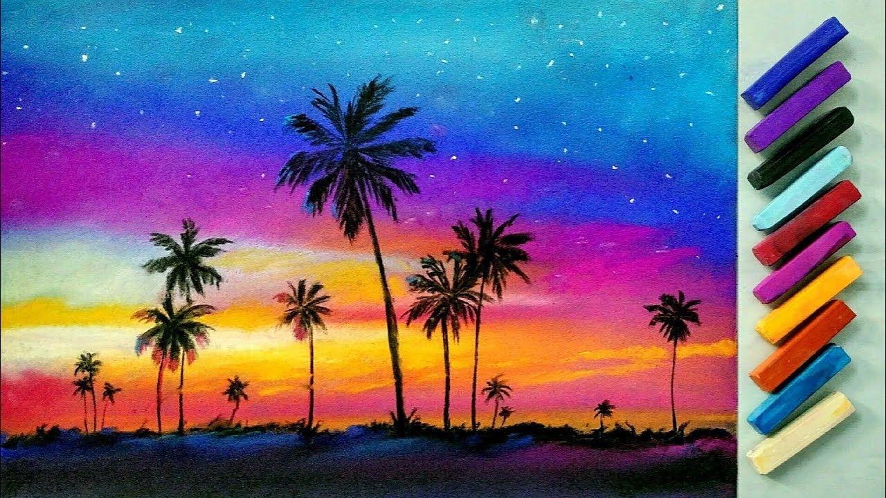 Landscape Drawing For Beginners With Soft Pastels Landscape Painting Pastell Malerei Pastell Bilder Landschaftszeichnungen