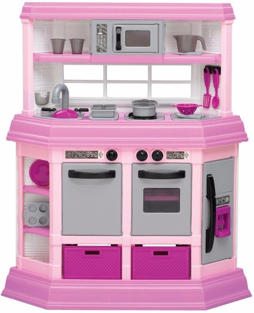 american plastic toys custom kitchen cabinets com pretend play set with accessories americanplastictoys