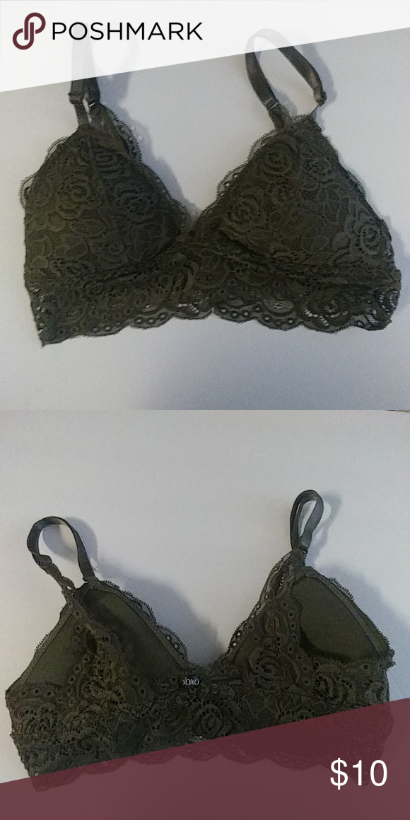 f6e3a0e8abe Never Worn  Olive Green Bralette New  Olive Green Lace Bralette XOXO  Intimates   Sleepwear Bras