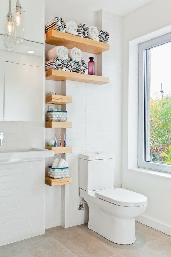 Deko Ideen Mietwohnung offene Regale Badezimmer mehr Staufläche ...