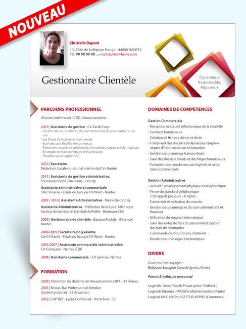 Exemple Modele Cv Gestionnaire Clientele Modele Cv Cv Original Modele Cv Gratuit Word