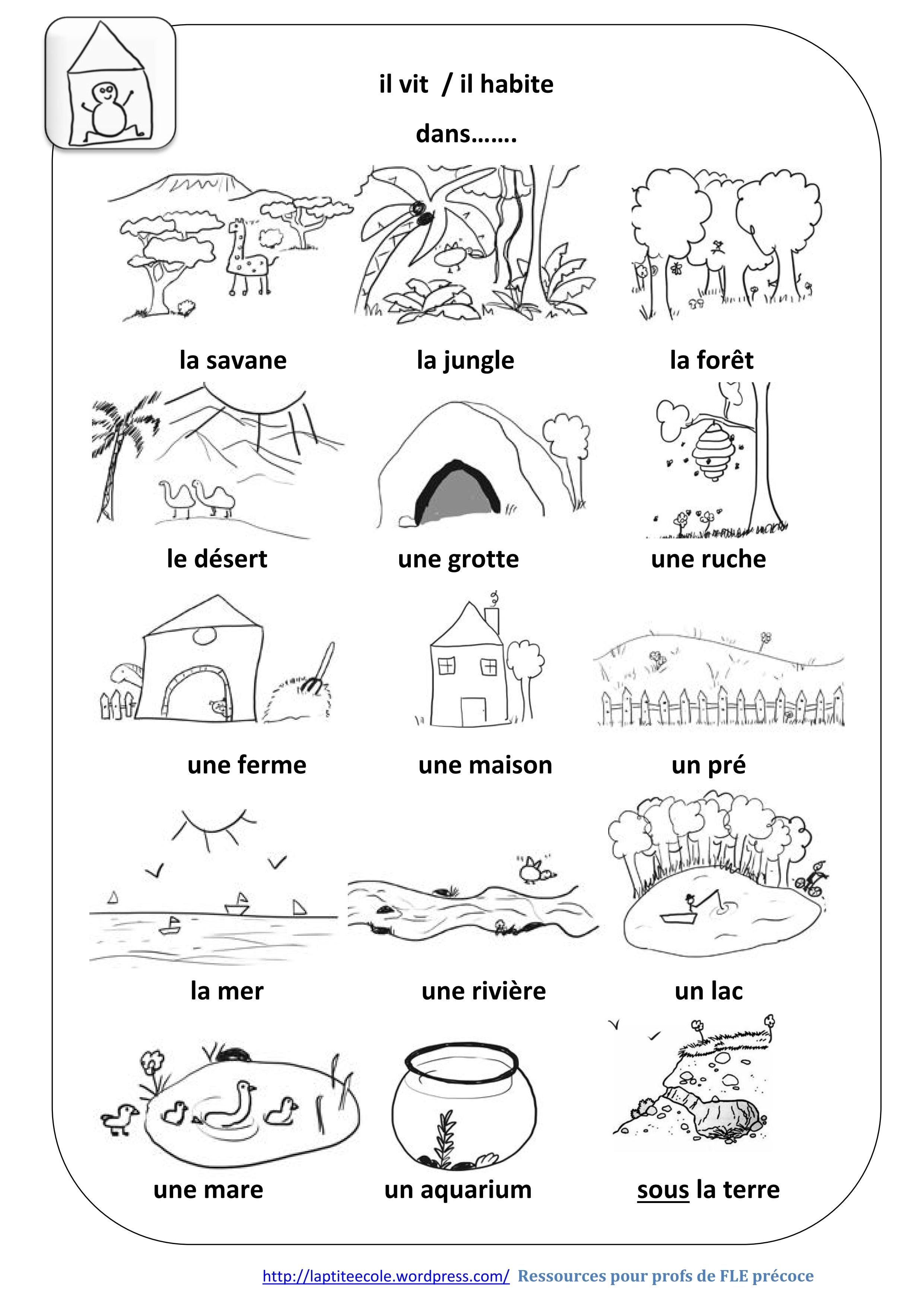 Résultats de recherche d\'images pour « habitat des animaux ...
