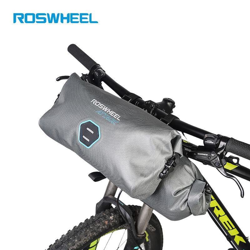 Roswheel 2pcs Set 12l Full Waterproof 840d Tpu Mtb Road Bike Bags Handlebar Front Bag Cycling Bike Bicycle Accessories Attack Mtb