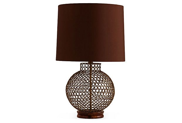Bloomington Antique Brass/Wood Lamp on OneKingsLane.com