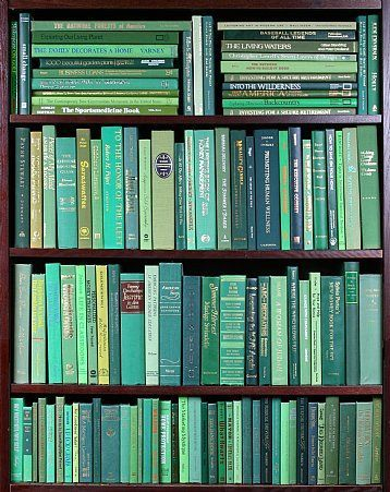 Go Green With vivid green bindings, these modern \cloth\ hardbacks range from celadon to hunter green and are in very good to new condition. These books are perfect for interior decorating, model/vacation home furnishings, art materials, AND MORE! Book Details Height 8\ to 9.5\. Color on spine only. Boards may vary. Very good to new condition. 10 to 12 books per foot. Ordering Information Minimum order 2 feet. Shipping billed at cost. Click here for more shipping info. Portfolio Samples Spec #vacationlooks