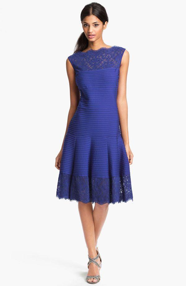 TADASHI SHOJI Matte A-Line Jersey Dress Marina size XLARGE $350 #155 NEW