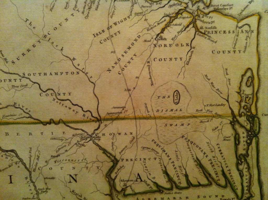 North America Map In 1750%0A Map of early Colonial North Carolina