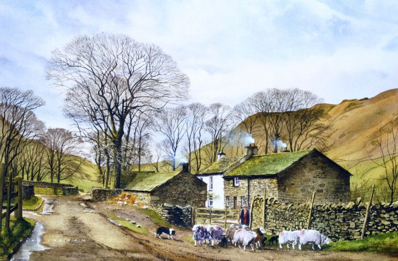 Watercolour Skies Paintings By Alan Ingham Acclaimed British Watercolour Artist Depicting The Diverse Rural Heritage Of Great Brita