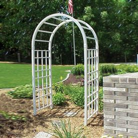 Shop Dura Trel 54 In W X 90 In H White Garden Arbor At Lowes Com