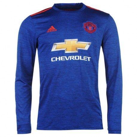 Camiseta Nueva del Manchester United Away 2017 Manga Larga  4bc11ad027731