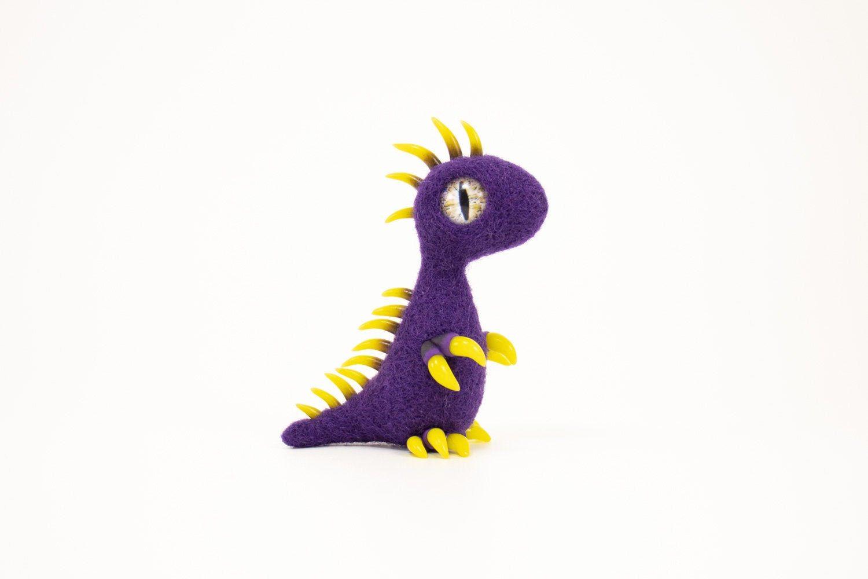 Felt dragon needle felted dragon polymer clay dragon Baby Dragon Lemon