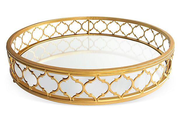 16 Metal Mirror Tray Gold Mirror Tray Metal Mirror Round Gold Mirror