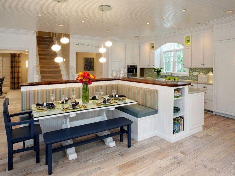 corner bench seating for kitchen sink black granite with storage design in 2019