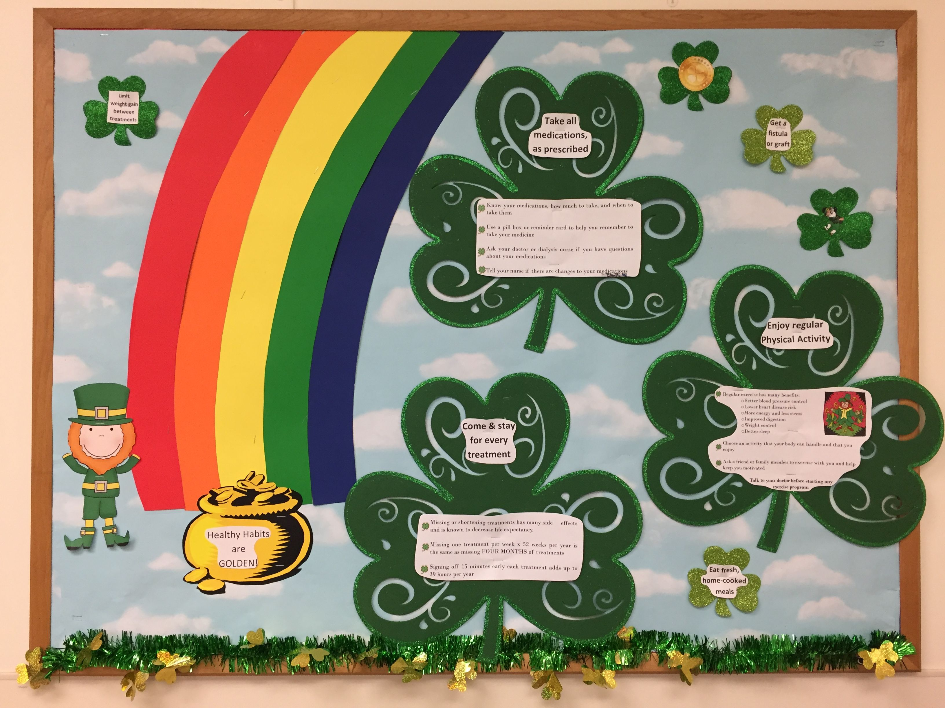 St  Patty's Day and dialysis | Dialysis Bulletin Boards