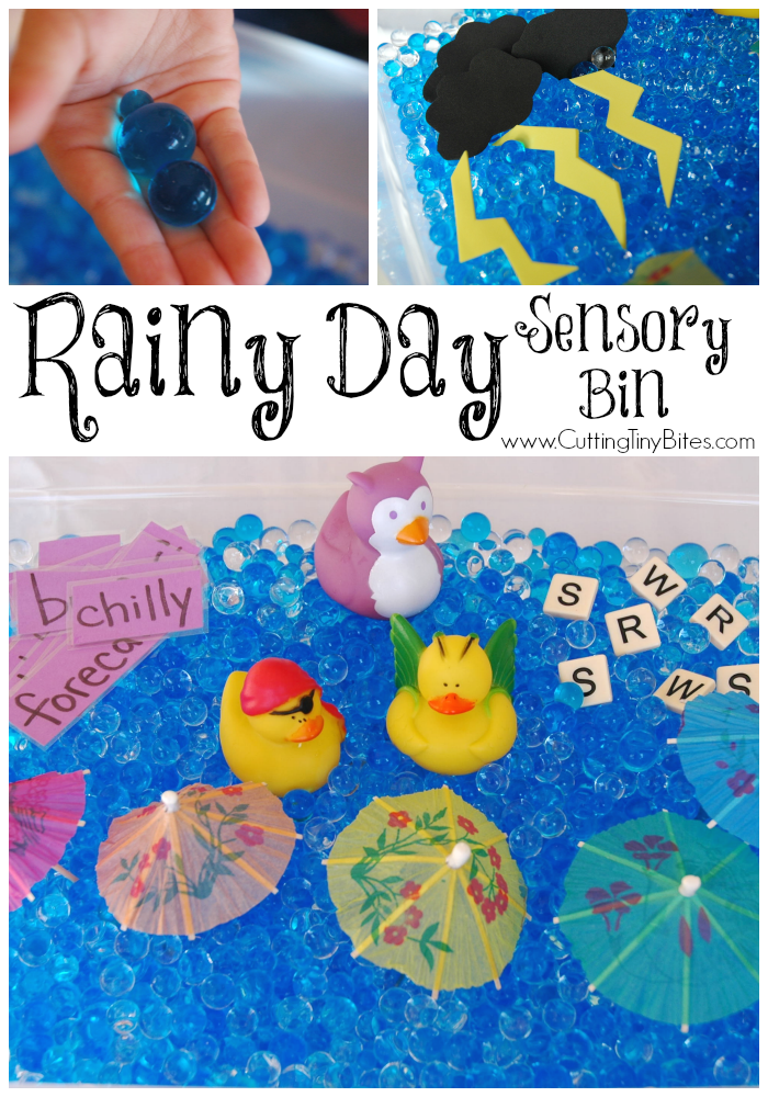 Rainy Day Sensory Bin Sensory Play Ideas Preschool