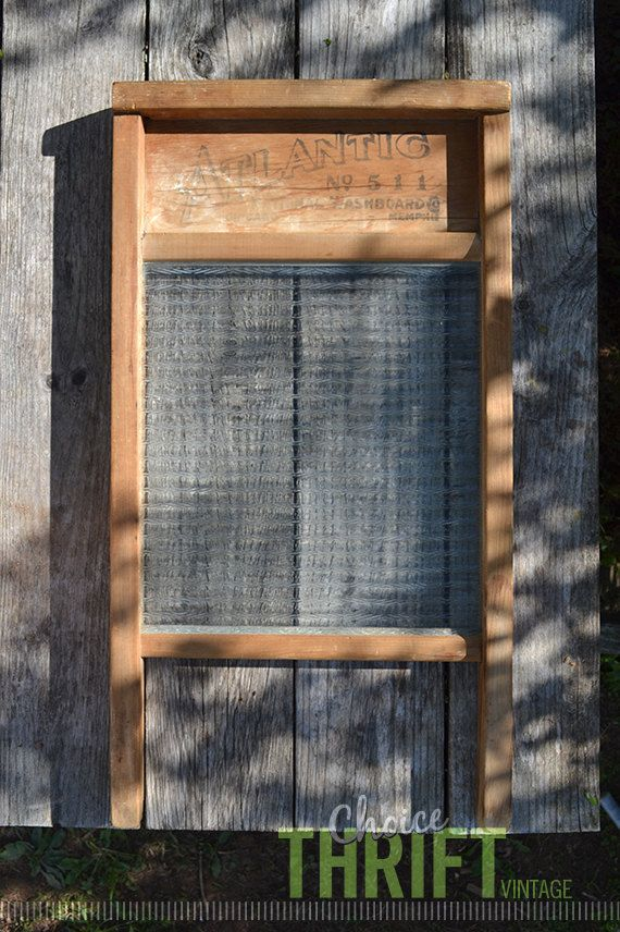 Vintage Atlantic Glass Washboard No. 511 by National Washboard Co. Chicago - Memphis