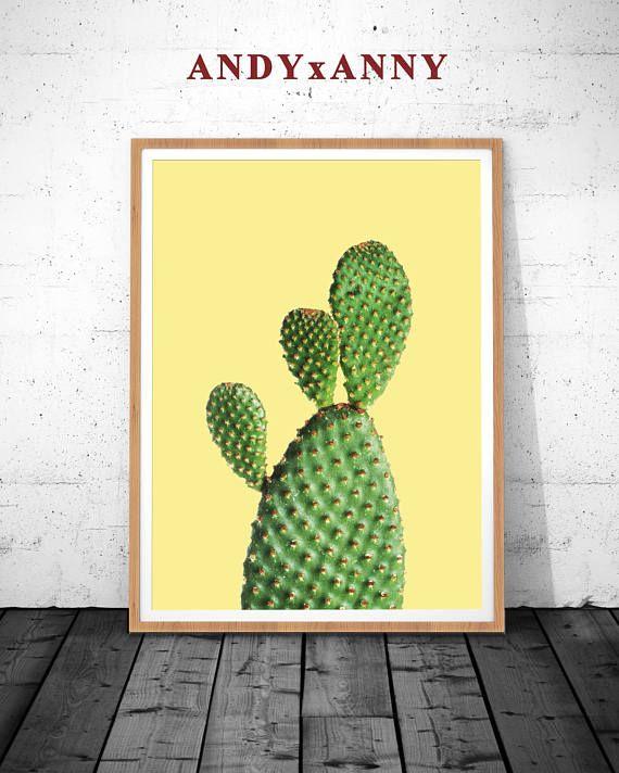 Cactus Wall Art cactus decor, cactus art, cactus wall art, succulent print, cactus