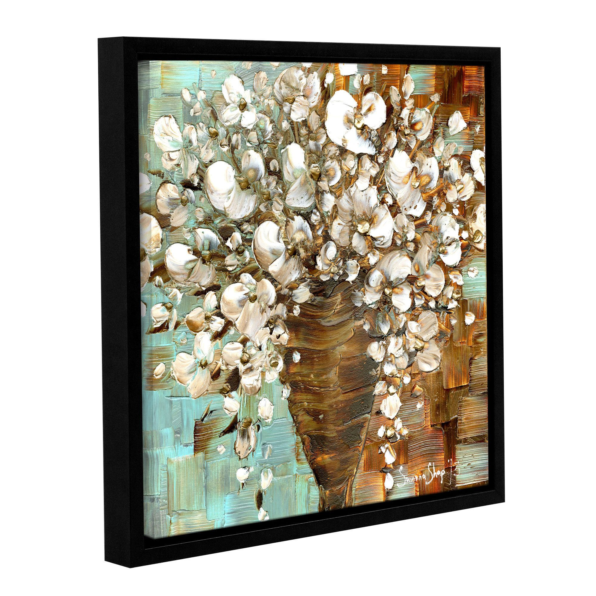 ArtWall Susanna Shaposhnikova's Bouquet, Gallery Wrapped Floater-framed