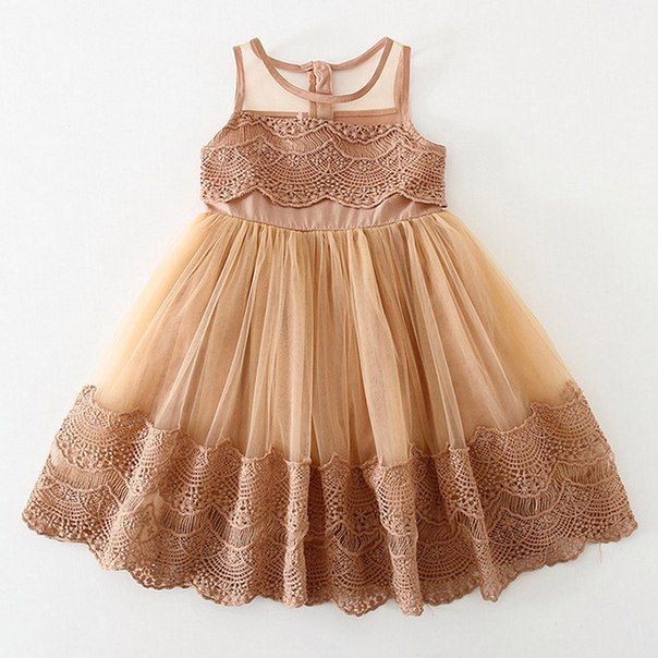 5838597a5 New girls summer dresses 2016 baby fashion lace tulle princess party ...