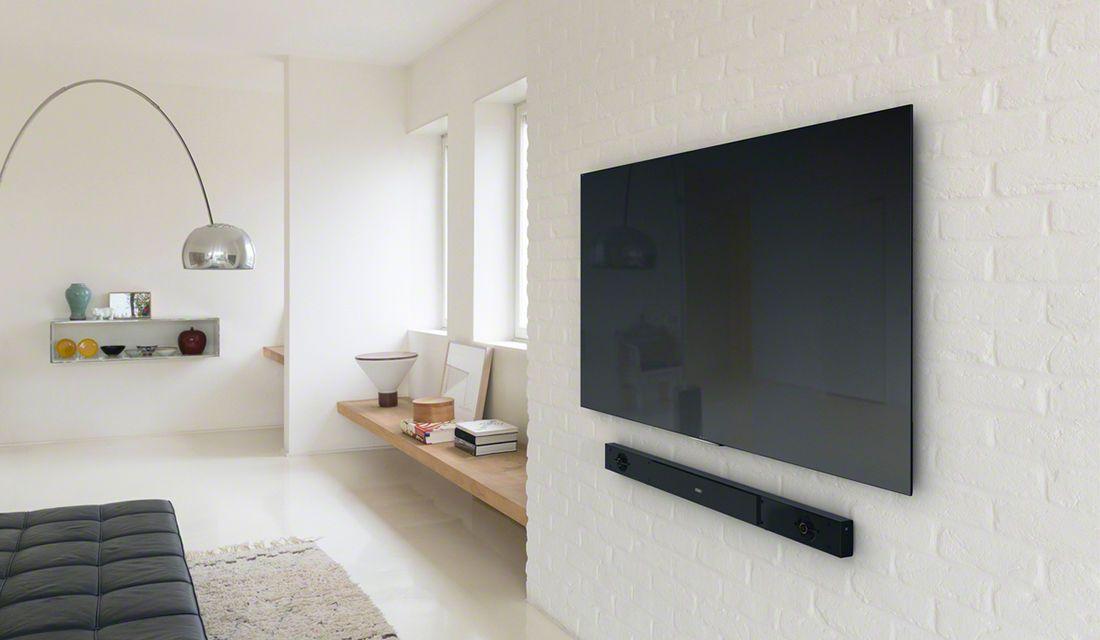 Wall Mounted 4k Tv Bravia X900c With Sound Bar Av リビング