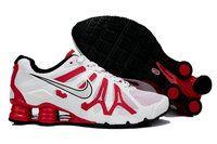 chaussures nike shox turbo+gris homme (blanc/noir/rouge) pas cher