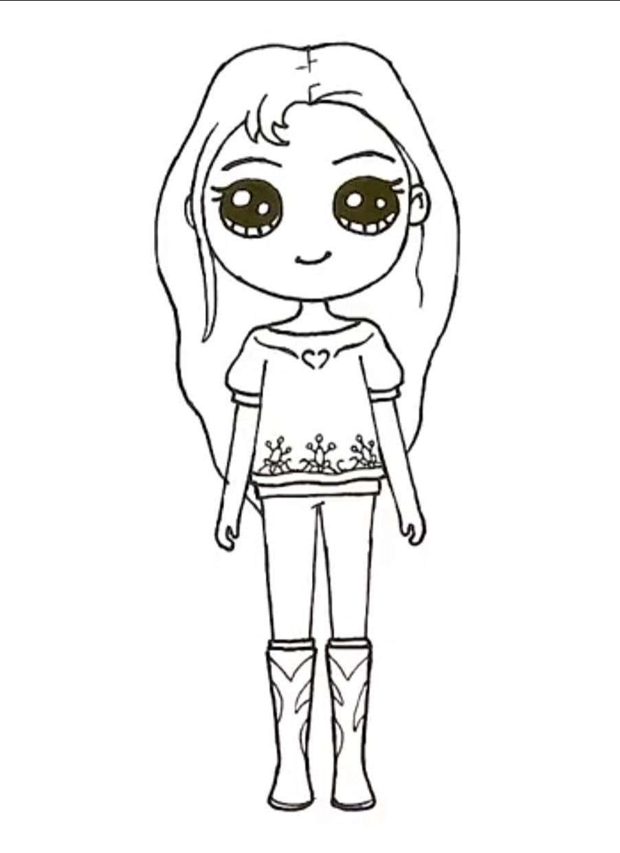 Cute Kawaii Girl Coloring Pages Pin by Anel Van On Fun Facts in