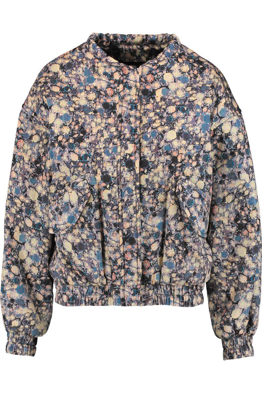 ISABEL MARANT Harrison printed cotton jacket. #isabelmarant #cloth #jacket